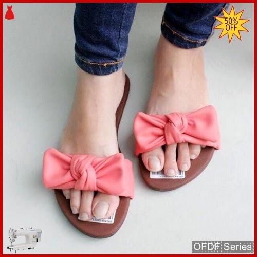 OFDF154 Sandal Cantik Wanita Selop Ribbon Pita BMGShop