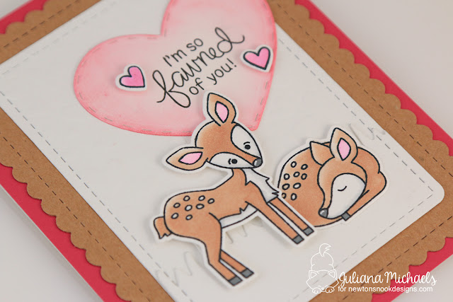 Fawned Of You Valentine Card by Juliana Michaels featuring Deer Friend Stamp Set