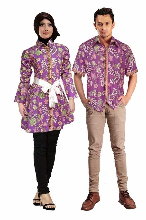 Model Baju Batik Ikat Pinggang