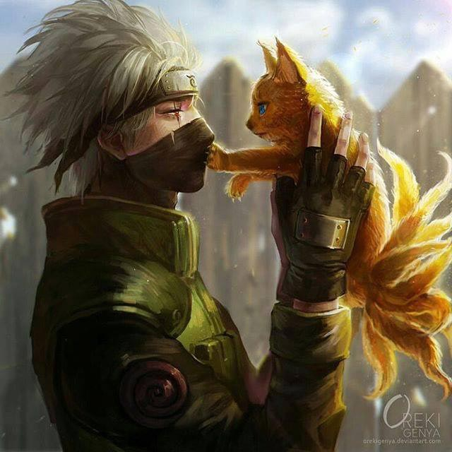 Kakashi And Nine Tails Wallpaper Engine