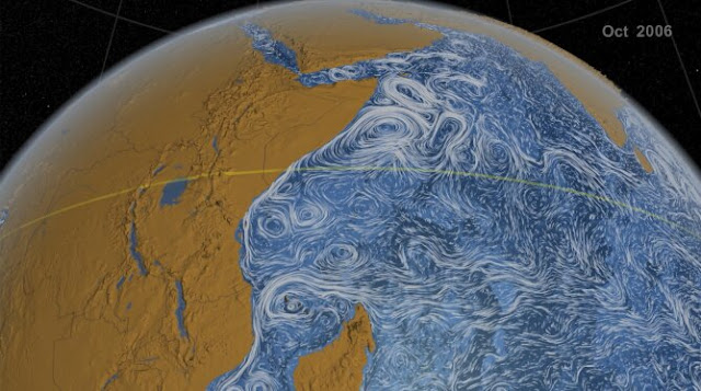 Scientists track giant ocean vortex from space