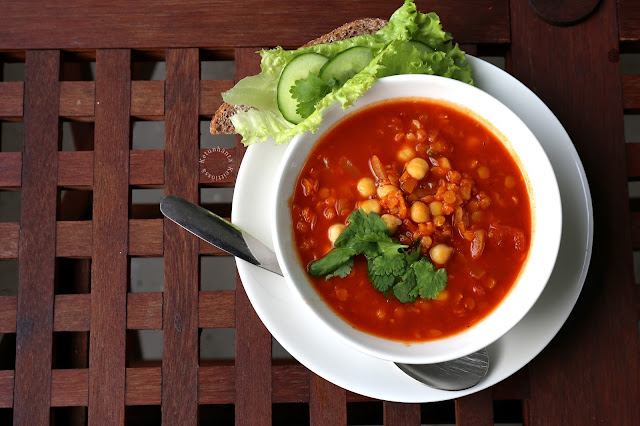 Moroccan Chickpea and Lentil Soup
