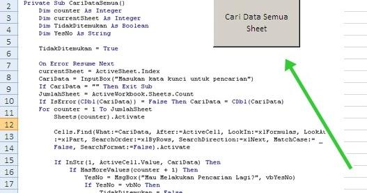 Pencarian Data di Semua Worksheet dengan Mudah