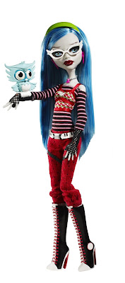 TOYS: Ghoulia Yelps : Monster High . Dolls. Action Figure. Monster High Ghoulia Yelps with Pet Owl Sir Hoots A Lot. Señor Ululo un Monton, mascota.