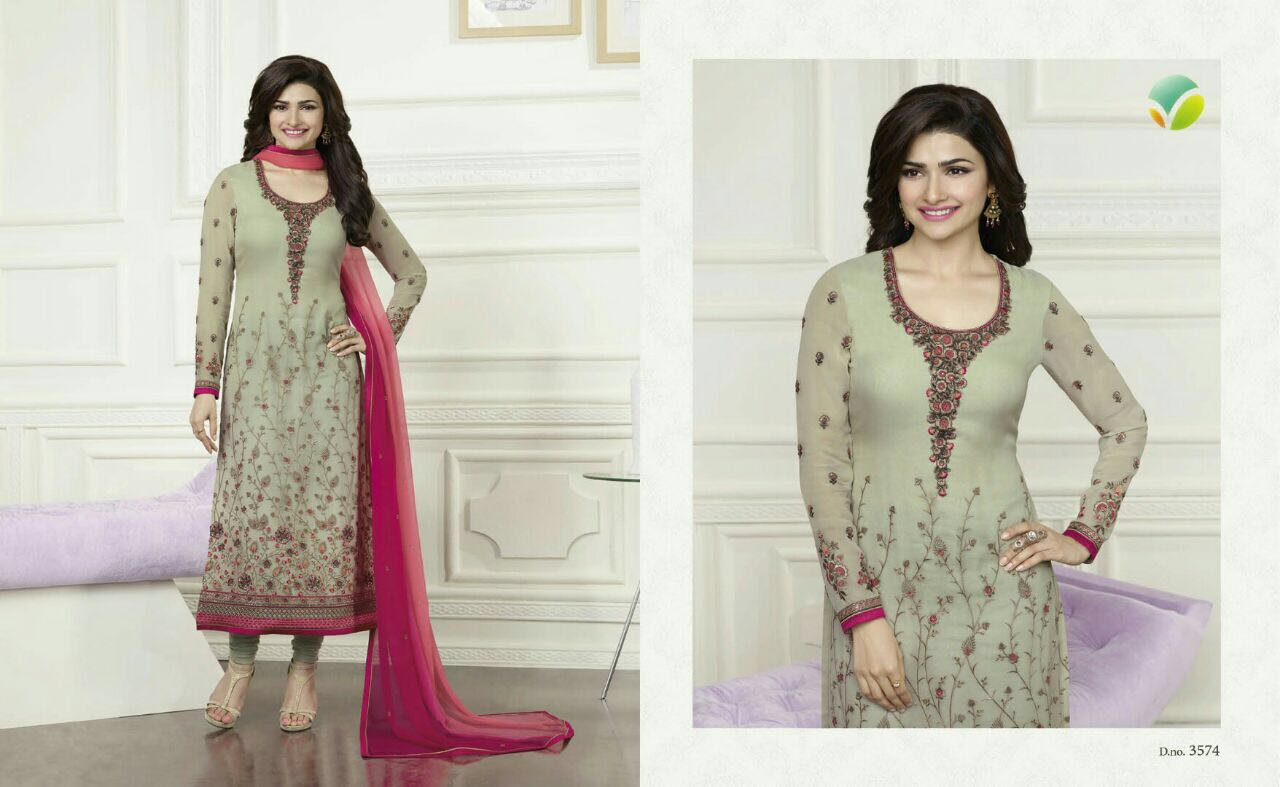 PRACHI ( 16 – 17 )-Designer Heavy Georgette Dress material with heavy Duptta work