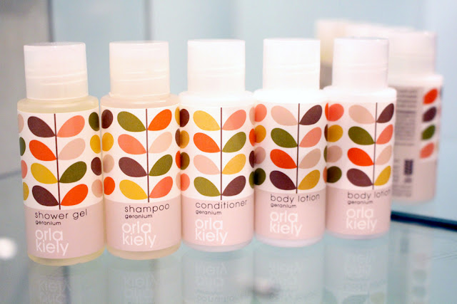 Orla Kiely geranium products at Hotel Josef - Prague design hotel - Europe travel blog