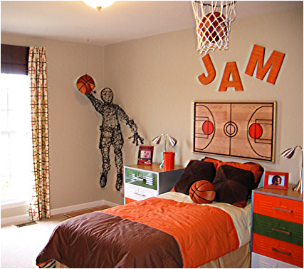 basketball themed bedrooms boys sports bedroom themes room design ideas 10183