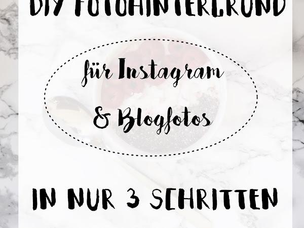 Easy DIY: In 3 Schritten zum selbstgemachten Fotohintergrund für Instagram- und Blogfotos