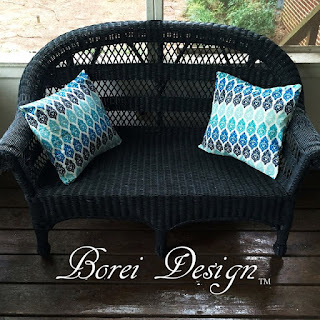 wicker furniture makeover diy outdoor pillows
