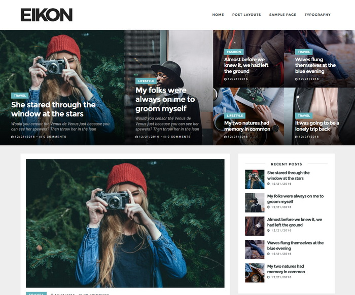 Eikon Blogger Template