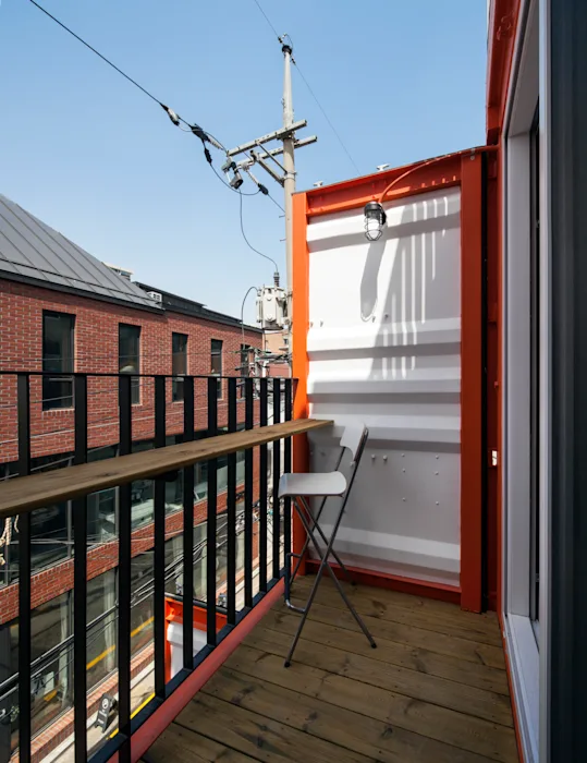 Shipping Container 4 Story House - Office, Cafe and Hotel in Seoul, South Korea 75