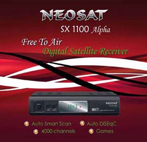 New Software Neosat Sx 1100 Alpha Digital Satellite Reciever | how