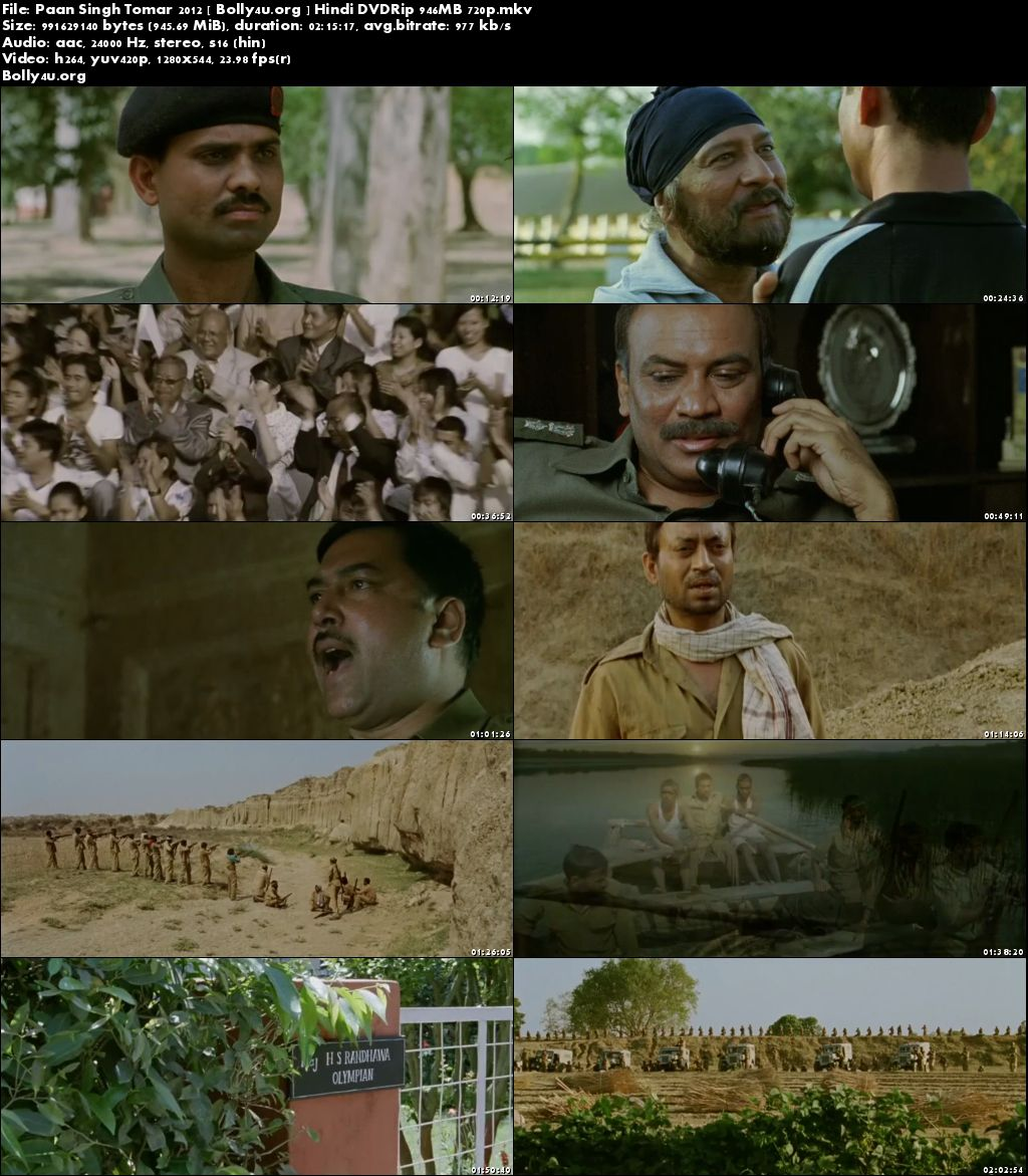 Paan Singh Tomar 2012 DVDRip 950MB Hindi Movie 720p Download