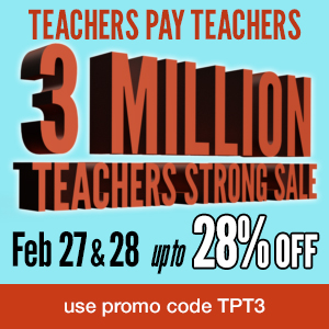 SALE! TeachersPayTeachers site-wide sale Feb. 27-28.