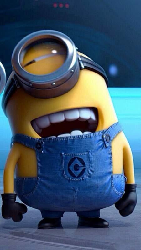 Hình nền mở khóa điện thoại Minion cười hài hước