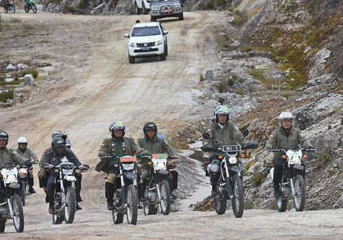 Tinuku.com President Joko Widodo, NHK helmets, Kawasaki KLX and GoPro Hero 5 Black
