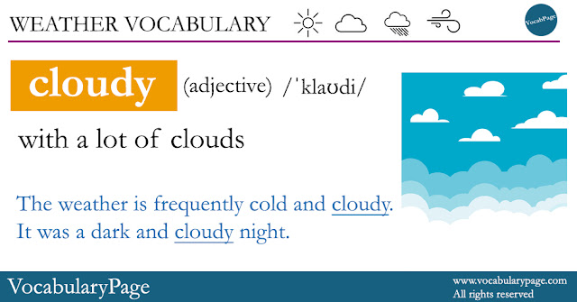 Weather Vocabulary - Cloudy