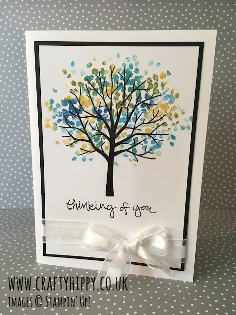 Sheltering Tree Stampin' Up!, Babywipe Technique