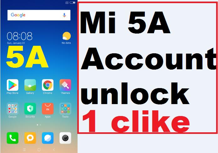 Redmi 5A Mi Account unlock one click with umt tool 2018