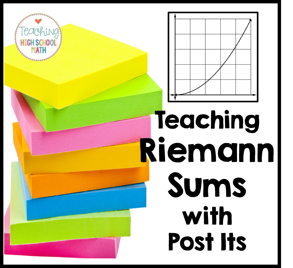 Teaching High School Math Teaching Riemann Sums A Post