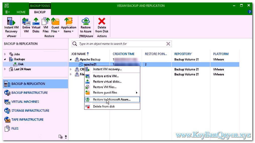 Download VeeamBackup & Replication 9.5.4.2615 Full Key, Phần mềm hỗ trợ sao lưu và phục hồi hệ thống ảo hóa.