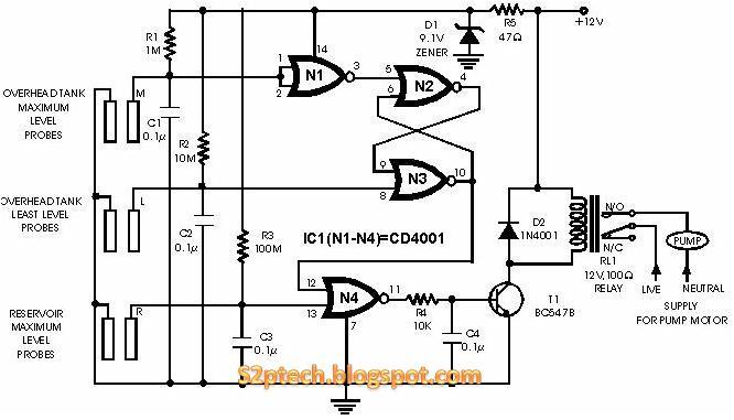 reservoir pump controller circuit diagram