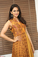Rakul Preet Singh smiling Beautyin Brown Deep neck Sleeveless Gown at her interview 2.8.17 ~  Exclusive Celebrities Galleries 021.JPG
