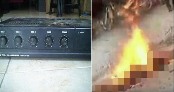 Polisi Buru Warga Pembakar Pria yang Dituduh Maling Ampli Mushola