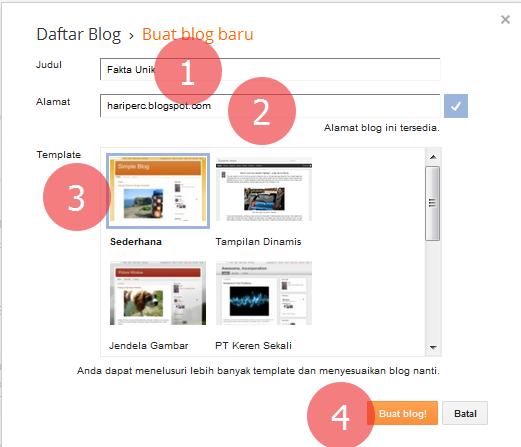 langkah membuat blog