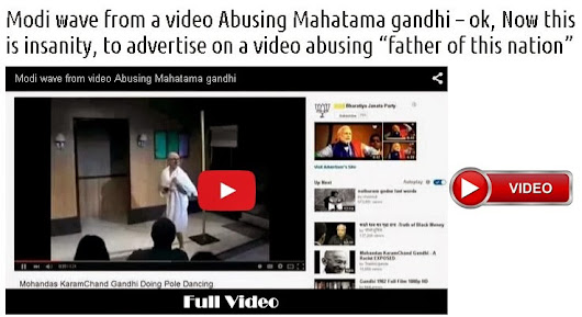 Modi wave from a video Abusing Mahatama gandhi