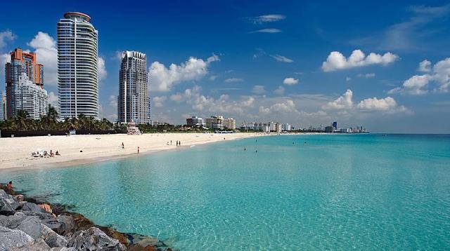 Praias de South Beach em Miami