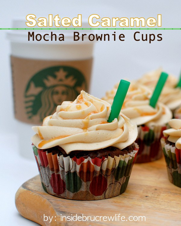Salted Caramel Mocha Brownie Cups Recipe