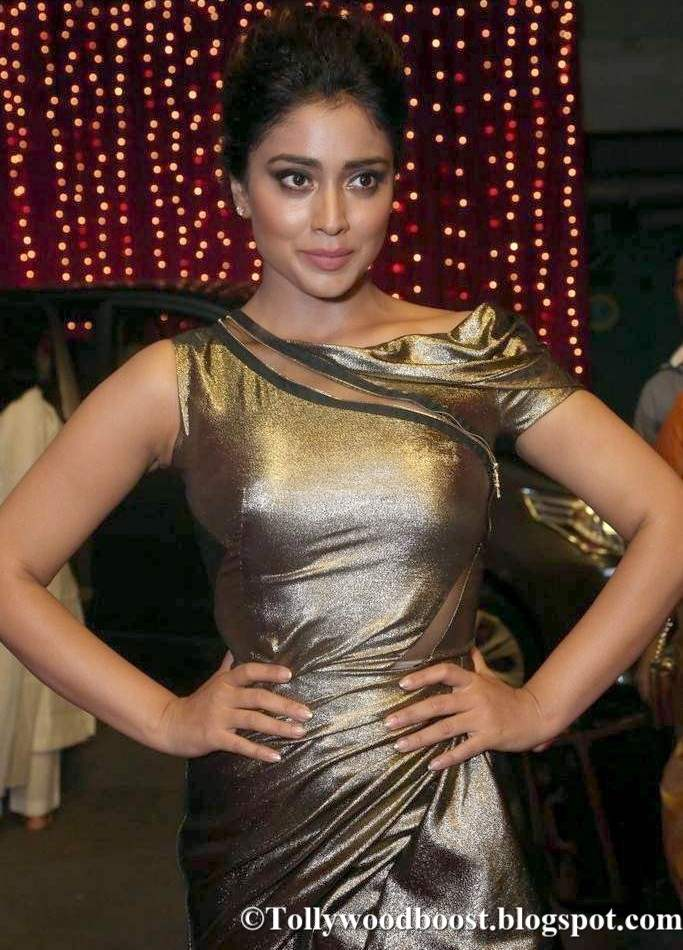 Shriya Saran At Zee Telugu Apsara Awards 2017 In Grey Dress