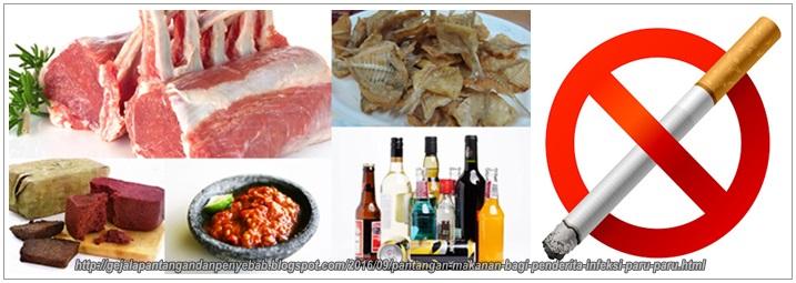 Pantangan Makanan Bagi Penderita Infeksi Paru-Paru