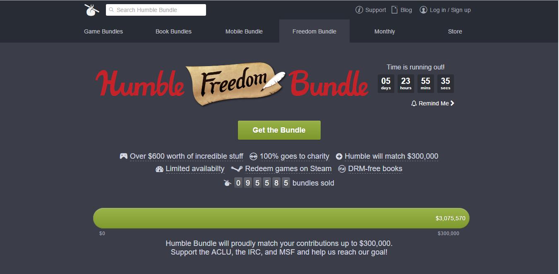 Humble bundle lanza el Freedom Bundle 1