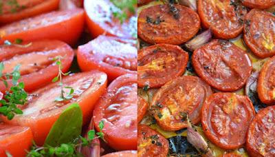 Penne com Tomates Confit (vegana)