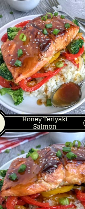 Honey Teriyaki Salmon with Cauliflower Rice