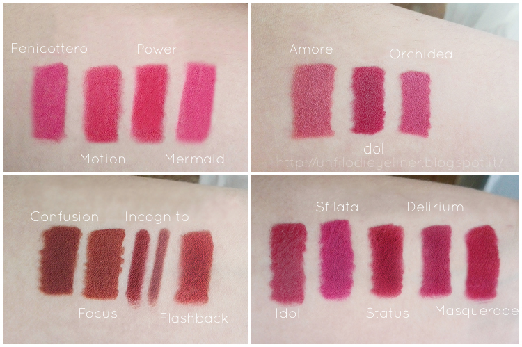 Neve Cosmetics: Drama Empire Collection Swatch