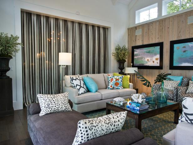 Modern Furniture: 2013 HGTV Smart Home : Living Room Pictures