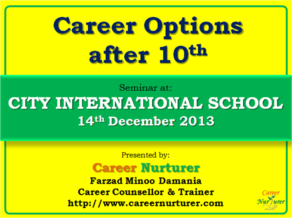 Career Options after 10th - Career Counselling Seminar by ...