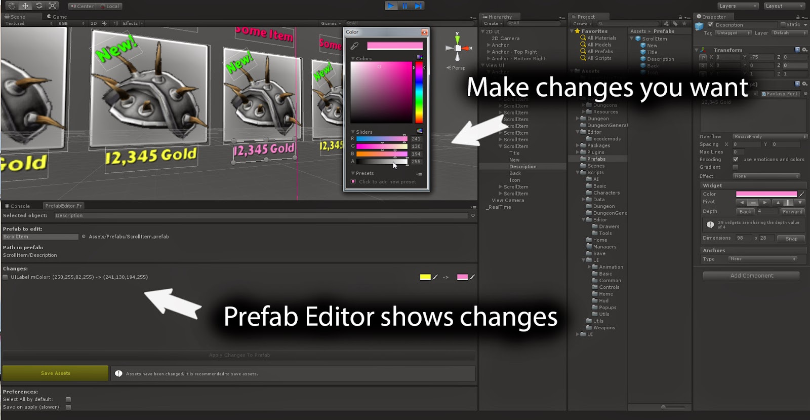 Unity3d how to make a prefab