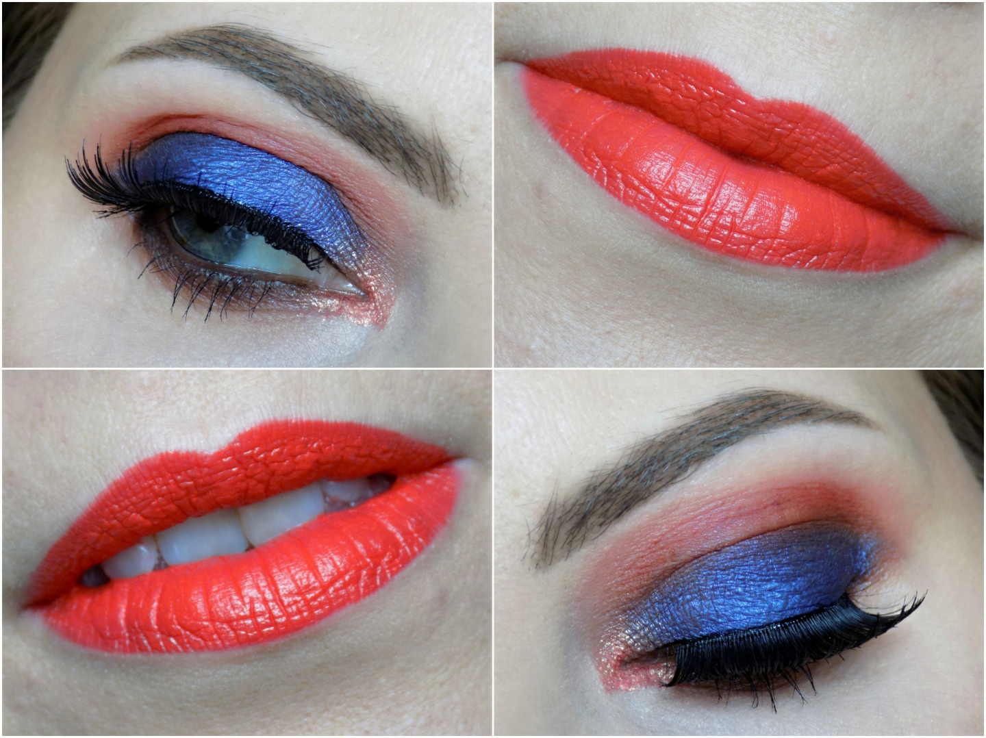 blues & oranges, fun Summer look