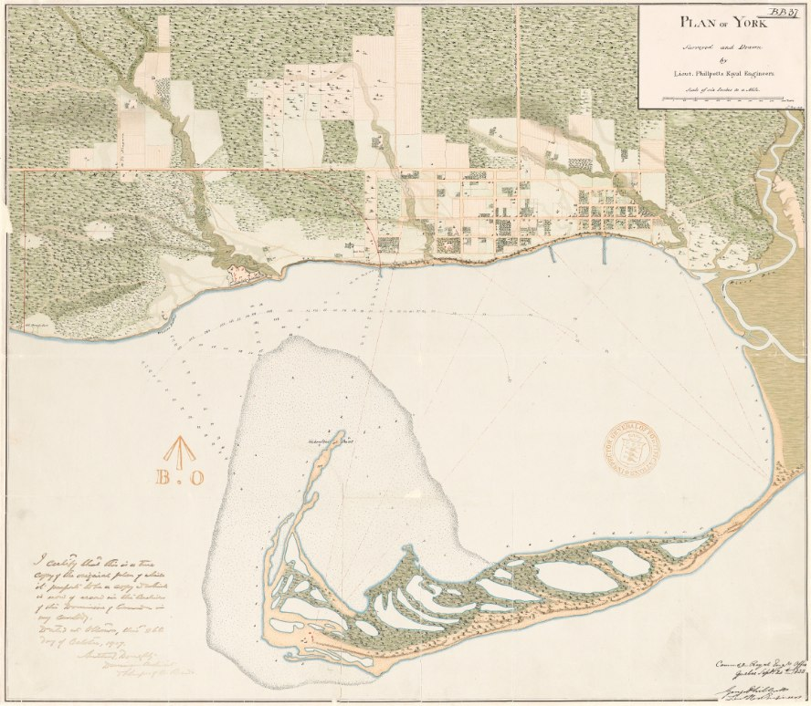 1818 Plan of York by Lieut. George Phillpotts