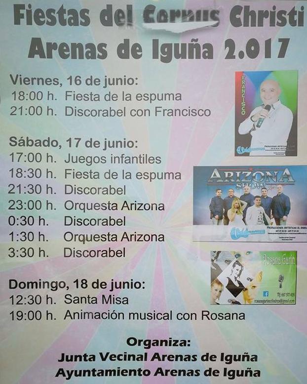 Fiestas del Corpus Christi en Arenas de Iguña 2017