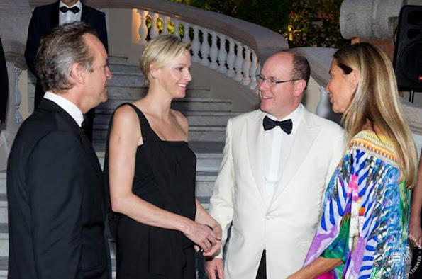 Prince Albert and Princess Charlene attended 'Dinner aux Chandelles' organized by the Monaco de Mairie