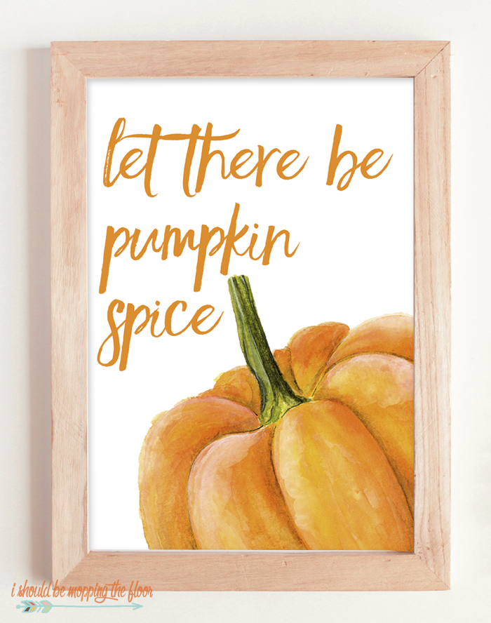 These Six Watercolor Pumpkin Printables are perfect for your fall decor...perfect for all of the pumpkin lovers out there!