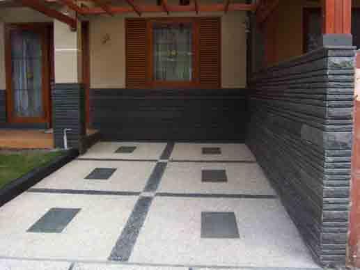 9 Desain Carport Batu Alam yang menarik dan bagus   Rumah Minimalist on