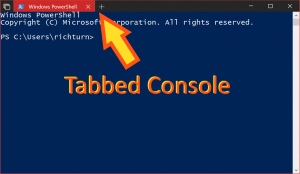 Tabbed console