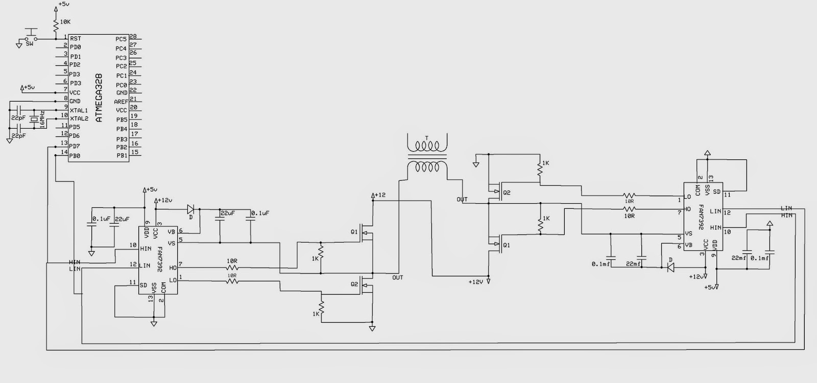 circuit diagram wave forms
