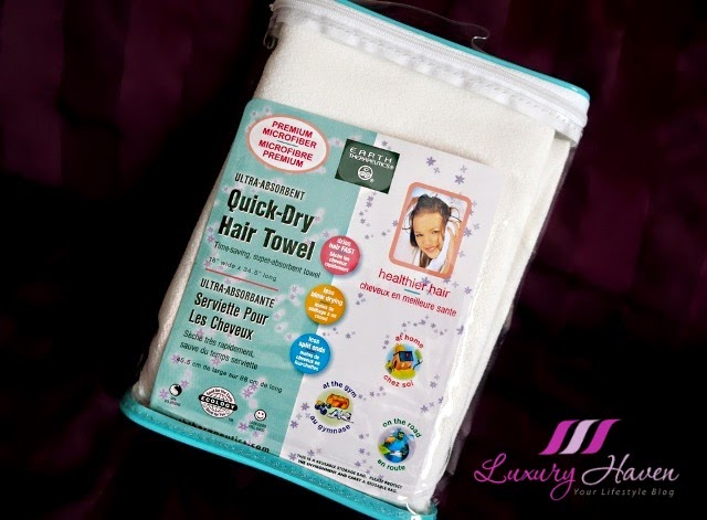 vitacost earth therapeutics quick dry hair towel review